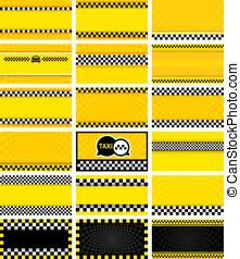 empresa / negocio,  vector, tarjeta, Ilustración,  taxi