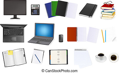 empresa / negocio, y, artículos de escritorio