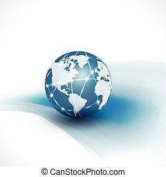 empresa / negocio, y, comunicación, aislar, flujo, movimiento, w, mundo, tecnología