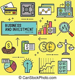 empresa / negocio, y, inversión, vector