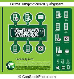 empresa, tecnologia, infographics