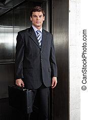 empresario, macho, elegante