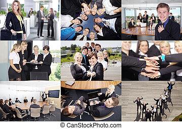 empresarios, collage