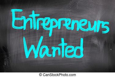 empresarios, concepto, querido