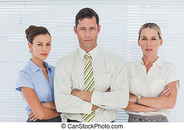 empresarios, en, oficina