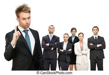 empresarios, encima, silenciado, su, cinta, boca