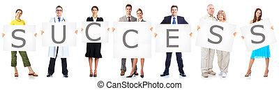 empresarios, grupo, con, banner.