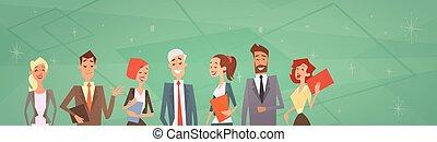 empresarios, grupo, equipo, recursos humanos, colegas