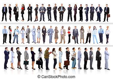 empresarios, -, joven, atractivo, equipo, élite