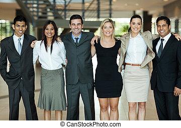 empresarios, posición, juntos