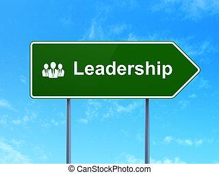 empresarios, señal, liderazgo, concept:, plano de fondo, ...