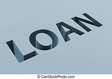 emprunt, concept, financier, dette