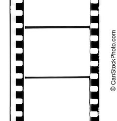 Empty 35 mm old film strip.