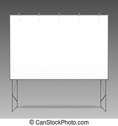 Empty 3D Billboard On Grey Backgrou