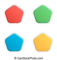 Empty 3d buttons