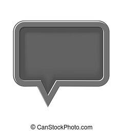 empty 3D icon speech bubble