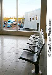 empty airport hall