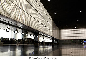 Empty airport hall.