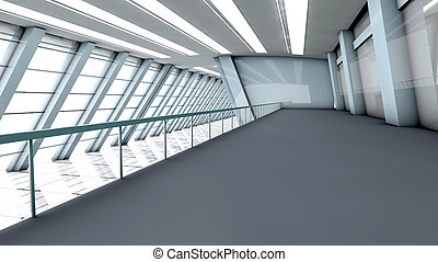 Empty Airport - A empty airport. Architecture visualization....