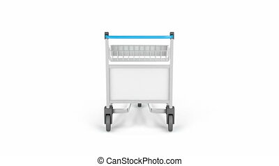 Empty airport trolley