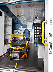 Empty Ambulance Interior