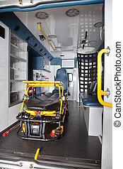 Empty Ambulance Interior