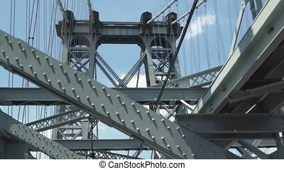 Empty American Bridge Camera Moving forward