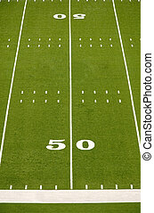 Empty American Football Field - Empty American football...