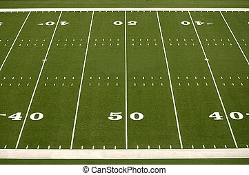 Empty American Football Field - Empty American football...