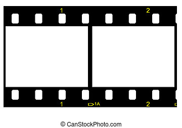 empty and isolated two negative - two negative strip empty...
