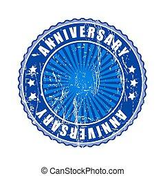 Empty  anniversary stamp.