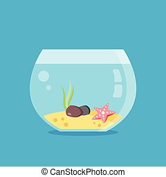 Empty aquarium. Vector illustration