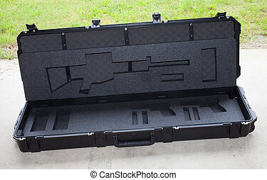 Empty AR-15 case - Case that has had its assault rifle...