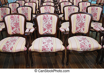empty auditorium with chairs