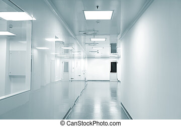 Empty background of modern  factory environment