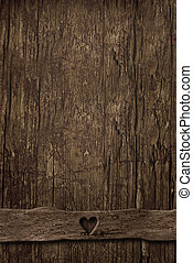 Empty background of old vertical wood and table ornament ...