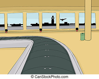 Empty Baggage Claim Area