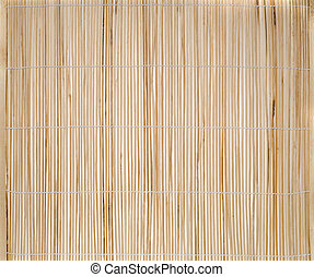 empty bamboo place mat