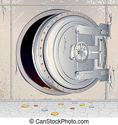 Empty Banks Storage. Financial Illustration