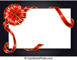 Empty Banner with Ribbon Bow Swirl Custom Vector
