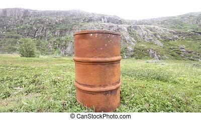 empty barrels in the Arctic environmental pollution -...
