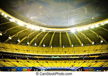 Empty Baseball Stadium - Abandoned and Empty Stadium with...