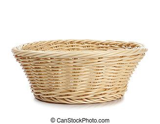 Empty basket - Empty wicker basket on a white background