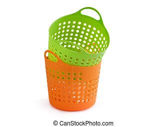 empty basket isolated on white background