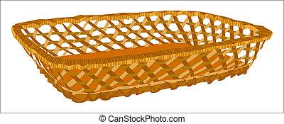 Empty basket. Illustration in vector format EPS