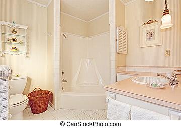 Empty bathroom interior in old house