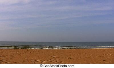 Empty beach on a seaside