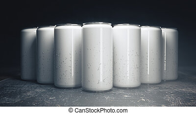 Empty beer cans front