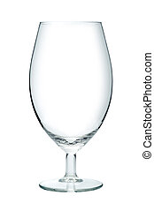 Empty beer glass, isolated on a white background