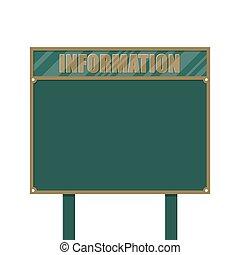 Empty big board or billboard